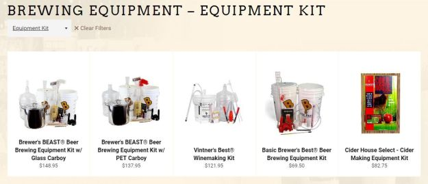 Brewer's Best Equipment Kits – Beer, Wine & Cider – on Sale