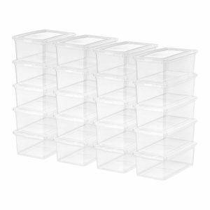 IRIS USA, Inc. CNL-5 Storage Box, 5 Quart, Clear, 20 Pack