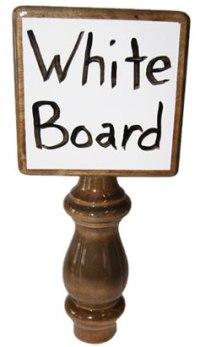 Tap Handle - Dry Erase White Board