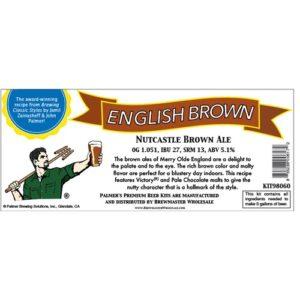 Nutcastle English Brown Ale - Palmer Premium Beer Kits