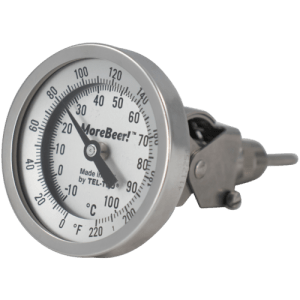 MoreBeer! Adjustable Dial Thermometer - 3 in. Face x 6 in. Probe MT518