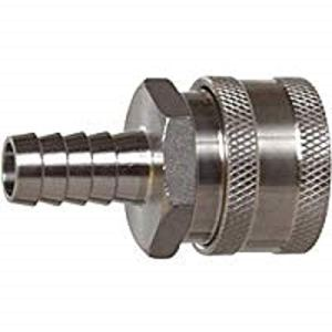 """1/2"""" Female Quick Disconnect 304 Stainless Steel 1/2"""" Barb"""