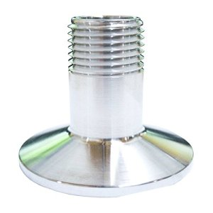 HomeBrewStuff Stainless Steel Sanitary Male Threaded Pipe Fitting to Tri Clamp Clover (50.5mm Ferrule)