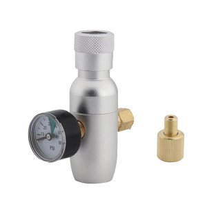Mini CO2 Regulator, Wrewing 0-60psi CO2 Charger Kit Portable Guage for Home Brewing