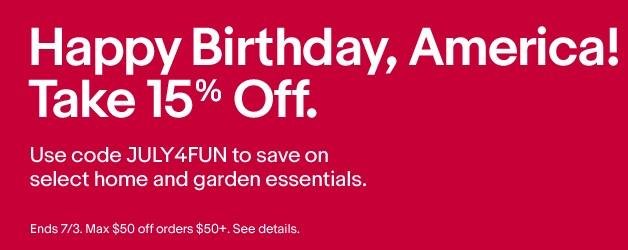 15% off ebay