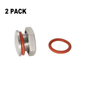 "2 PCAK Kettle Plug 20.8mm compression 304 stainless Steel Homebrew Kettle plug for 20.8mm hole fit 1/2"" NPT/NPS/BSP hole Beer Hardware"