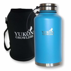 Yukon Growlers Insulated Beer Growler - Keep Your Beer Cold and Carbonated for 24 Hours in This Stainless Steel Vacuum Water Bottle