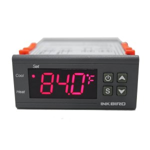 Inkbird Temp Control Thermostat ITC-1000 Dual Stage Digital Temperature Switch Controller Fahrenheit & Celsius Sensor 3D Printer,Freezer,Fridge,Hatching ect. (12 Volt)