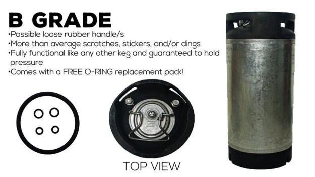 Pin Lock B-Grade Keg