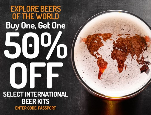 BOGO 50% OFF SELECT INTERNATIONAL BEER RECIPE KITS