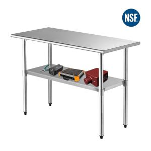 """SUNCOO NSF Stainless Steel Table 48""""x24""""Commercial Prep Table Heavy Duty Garage Worktable Workbench Industrial Restaurant Food Preparation Work Table for Shop"""