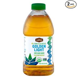 Madhava Naturally Sweet Organic Blue Agave Low-Glycemic Sweetener, Golden Light, 46 Ounce (Pack of 2) - PACKAGING MAY VARY