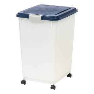 IRIS Airtight Pet Food Container, Navy/Pearl