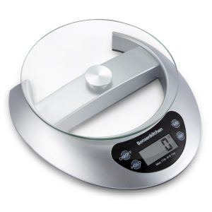 Bonsenkitchen Food Weight Scales, Digital Kitchen Scale for Cooking and Baking (Sliver)