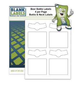 Blank Beer Bottle & Neck Labels Home Brewing. Self Print Brew Label Matte White