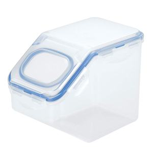 Lock & Lock HPL701 Easy Essentials Pantry Food Storage Container With Flip-Top Lid/Food Storage Bin With Flip-Top Lid - 6 Cup, Clear