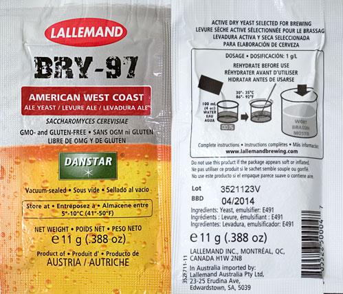 Lallemand Bry-97 West Coast Ale