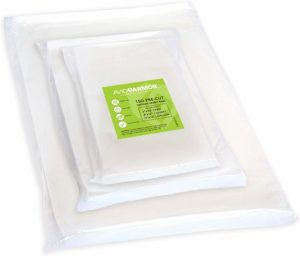 150 Vacuum Sealer Storage Bags for Food Saver, Seal a Meal Vac Sealers, 50 Each Bag Size: Pint 6x10, Quart 8x12, Gallon 11x16 BPA Free, Sous Vide Vaccume Safe Commercial Grade Universal Bag Avid Armor