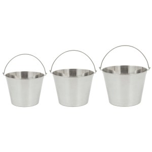 Bayou Classic 4888 3-Piece Stainless Steel Beverage Bucket