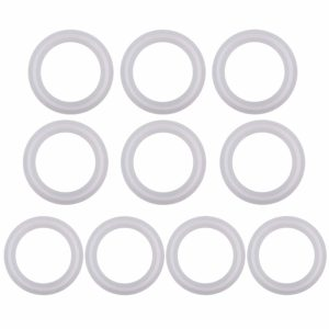 Silicon Tri clamp Gasket for Tri Clover Fittings O-Ring- 1.5 inch, (Pack of 10)