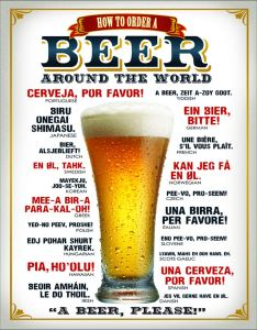 "How to Order A Beer Tin Sign, 12.5"" W x 16"" H"