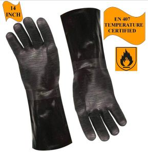 Artisan Griller BBQ Heat Resistant Insulated Smoker, Grill, Fryer, Oven, Brewing, Cooking Gloves. Great for Barbecue/Frying/Grilling – Waterproof, Fire&Oil Resistant Neoprene-1 Pair Size 9/LG-14""