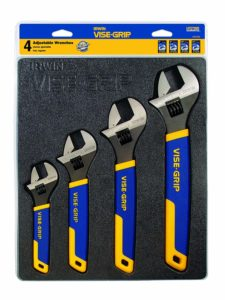 IRWIN VISE-GRIP Adjustable Wrench Set, 4 Piece, 2078706