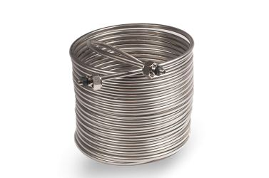 Jockey Box Coil 3/8-inch 50' Stainless Steel Tubing with Fittings