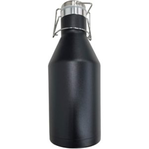 64 oz. Black Stainless Steel Double Wall Growler