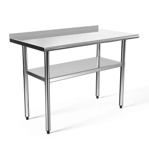 48x24 in Stainless Steel Prep Table NSF Commercial Work Table Food Metal Table Heavy Duty Kitchen Garage Worktables and Workstations