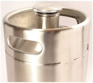64 oz Stainless Steel Growler w/Stainless Steel cap