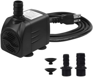 Aquastore 400GPH 25W Submersible Water Pump Ultra Quiet Fountain Water Pump with US Plug,usded as Aquarium Pump,Fountain Pump, Statuary Pump, Pond Pump,Fish Tank Pump, Hydroponic Pump,Waterfall Pump
