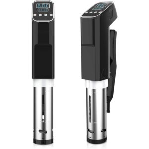 Sous Vide Cooker,Immersion Thermal Circulator Temperature and Time Control Vacuum Food Cooker, 1000 Watts Energy Saving Sous Vide Stick Machine(Black)