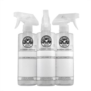 Chemical Guys ACC137 Secondary Container Dilution Bottle with Natural Sprayer (3 Pack), 16 oz.