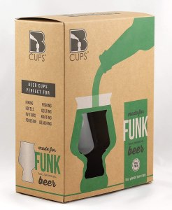 B Cups Funk Outdoor Craft Beer Cups, 4-Piece, BPA and BPS-Free