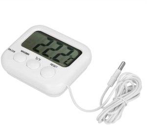 Jeffergarden Digital Waterproof Cooking Refrigerator Thermometer for BBQ Food Tea Probe Meat Refrigerator Freezer Waterproof LCD Display