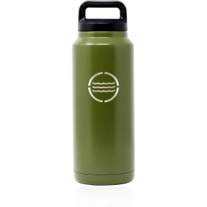 VistosoHome 36 oz Stainless Steel Water Bottle - Double Wall Vacuum Insulated with Durable Twist Off Lid - Large Capacity Bottle Growler Thermos Flask for Camping, Sports & Activities
