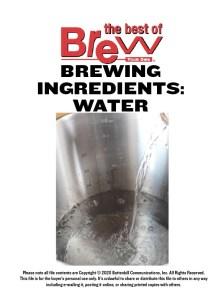 Brewing Ingredients: Water — Digital Download