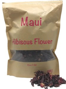 Maui Hibiscus flower. 1 Pound 16 oz 100% Natural Dried Hibiscus Flower Cut & Sifted, 1 Pound Bulk Bag. 100% raw for perfect Hibiscus Tea or a cold drink. ( Whole Flower, no small pieces)