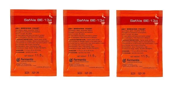 Fermentis SafAle BE-134 Beer/Ale Yeast - Pack of 3