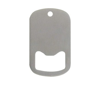 Middle Slot Dog Tag Bottle Openers Stainless Steel 25 Pieces