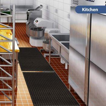 """Rubber Door Mat Kitchen Anti-Fatigue Floor Mats (24"""" x 36"""") Restaurant Bar Floor Mat New Bath Mat"""