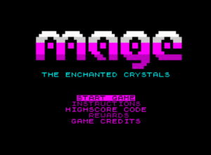 Mage: The Enchanted Crystals for the ZX81 (Chroma81)