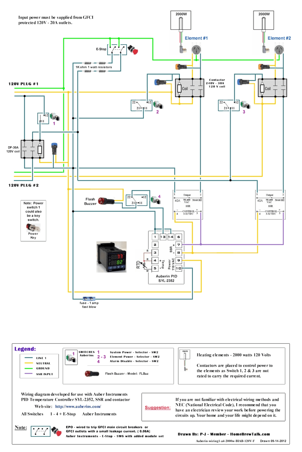 medium resolution of 120v 2 element png e stop wiring