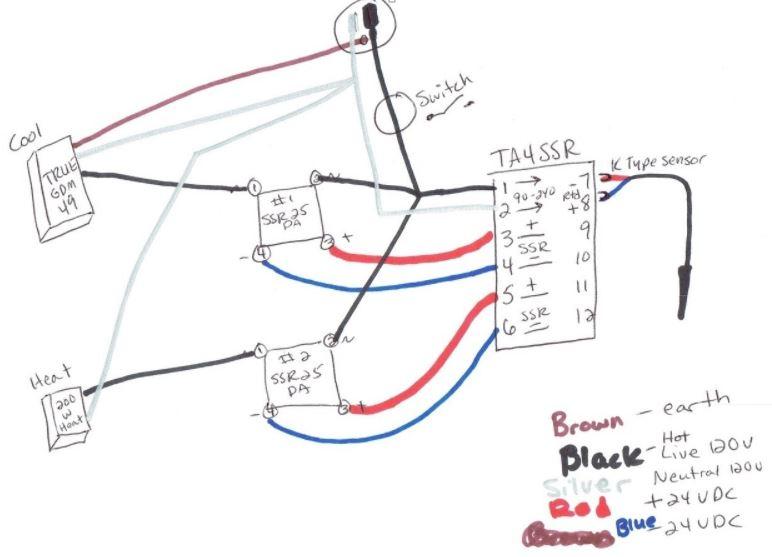 wiring diagram pt100