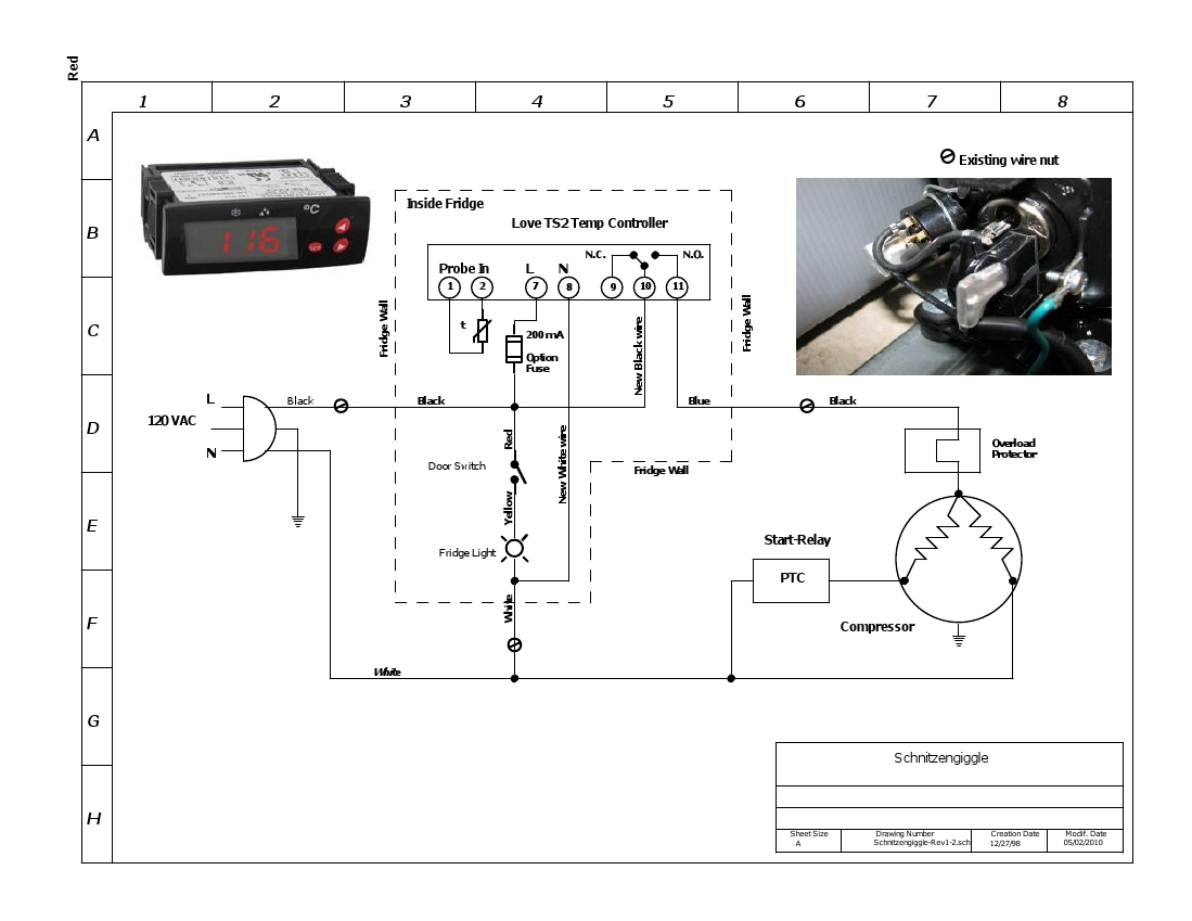 hight resolution of thermostat sifi source kegerator wiring diagram wiring diagram u2022 rh msblog co fridge thermostat