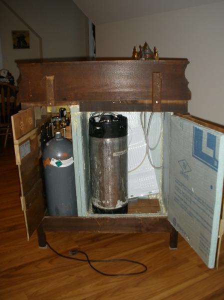 DIY Kegerator Moving Beyond Functionality  HomeBrewTalkcom
