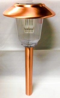 Set of 8 Solar Power Olympus Path Copper Finished Lights ...