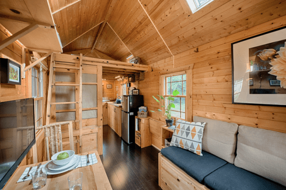 Self-Built Tiny Home Interior Architecture