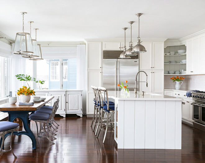 Beach House with Subtle Blue and White Interiors  Home
